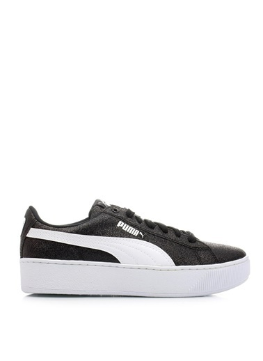 Puma Puma 36685602 Puma Vikky Platform GlitzSiyah - Beyaz - Gümüş Kız Çocuk YürüyüşAyakkabısı Siyah